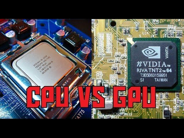 CPU vs. GPU